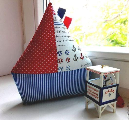 Детская ручной работы. Ярмарка Мастеров - ручная работа. Купить Текстильная игрушка-кораблик. Handmade. Комбинированный, кораблик, хлопок 100%