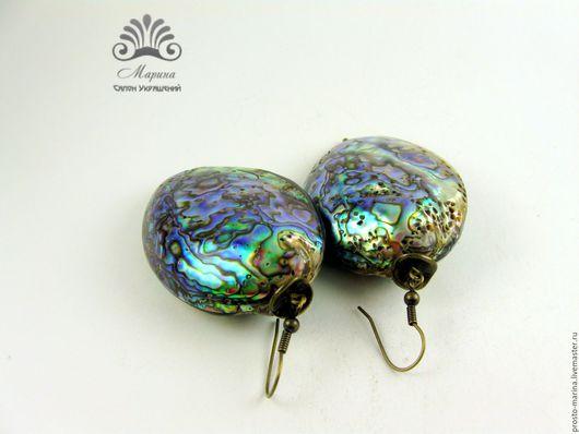 """Серьги ручной работы. Ярмарка Мастеров - ручная работа. Купить Серьги """"Сердце океана"""". Handmade. Серьги крупные, серьги из камней"""