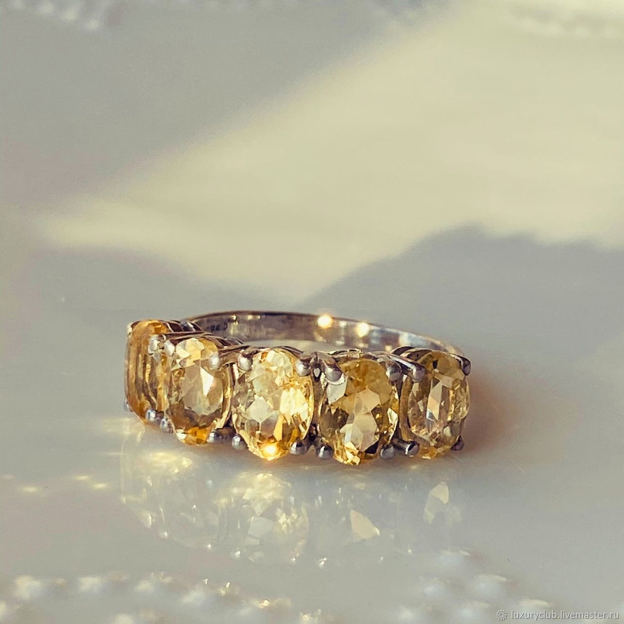Ring with citrine 'Sunbeam' buy, Rings, Tolyatti,  Фото №1