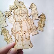 Материалы для творчества ручной работы. Ярмарка Мастеров - ручная работа Дед Мороз-разукрашка подвесная фигурка. Handmade.