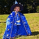 Детский карнавальный костюм для утренников `Звездочет` или костюм Волшебника, синий.