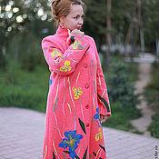 """Одежда ручной работы. Ярмарка Мастеров - ручная работа Вязаное пальто """"Яркие ирисы-2"""". Handmade."""