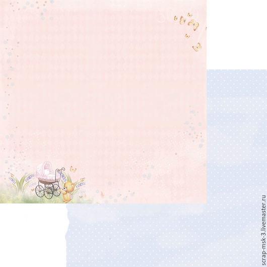 Открытки и скрапбукинг ручной работы. Ярмарка Мастеров - ручная работа. Купить Бумага для скрапбукинга по листу Сладкий сон 3302 Fleur Design. Handmade.