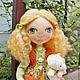 Человечки ручной работы. Ярмарка Мастеров - ручная работа. Купить кукла Кудряшка. Handmade. Зеленый, интерьерная кукла