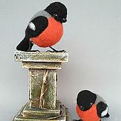 Куклы и игрушки handmade. Livemaster - original item Bullfinch. Felted toy. bird. Handmade.