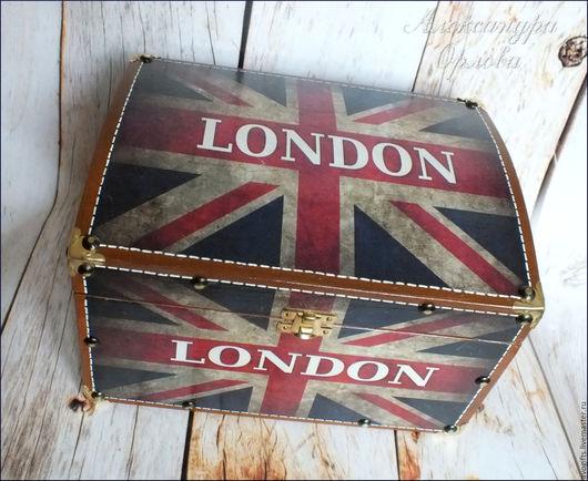 """Шкатулки ручной работы. Ярмарка Мастеров - ручная работа. Купить Сундучок """"Лондон"""". Handmade. Разноцветный, подарок мужу, подарок мальчику"""