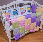 Работы для детей, ручной работы. Ярмарка Мастеров - ручная работа набор в кроватку. Handmade.