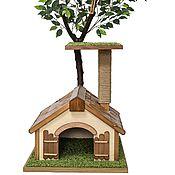 Для домашних животных, ручной работы. Ярмарка Мастеров - ручная работа Дерево для кошек с домиком. Handmade.