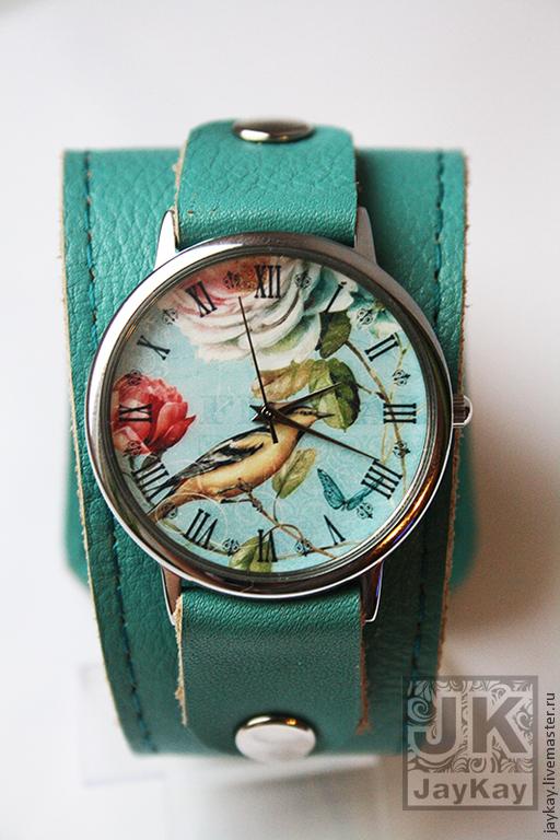 """Часы ручной работы. Ярмарка Мастеров - ручная работа. Купить Часы наручные JK """"Птичька певчая"""". Handmade. Часы"""
