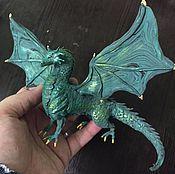 """Куклы и игрушки ручной работы. Ярмарка Мастеров - ручная работа статуэтка """"Дракончик"""" (драконы фентези). Handmade."""