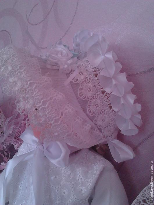 летняя шляпка капор для девочки `Барышня` коллекционная авторская ручная работа Наталья