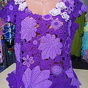 Одежда ручной работы. Ярмарка Мастеров - ручная работа Кофточка Фиолетовая фантазия. Handmade.