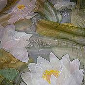 """Аксессуары ручной работы. Ярмарка Мастеров - ручная работа Шарф """"Белые лилии"""". Handmade."""
