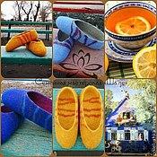 Обувь ручной работы. Ярмарка Мастеров - ручная работа Тапочки-следочки для уюта и здоровья.. Handmade.