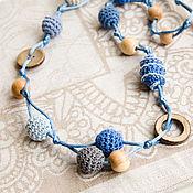 Одежда ручной работы. Ярмарка Мастеров - ручная работа Слингобусы на шелковом шнуре. В голубых тонах.. Handmade.
