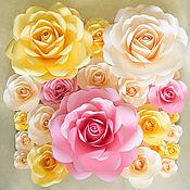 Свадебный салон ручной работы. Ярмарка Мастеров - ручная работа Бумажные розы 30см. Handmade.