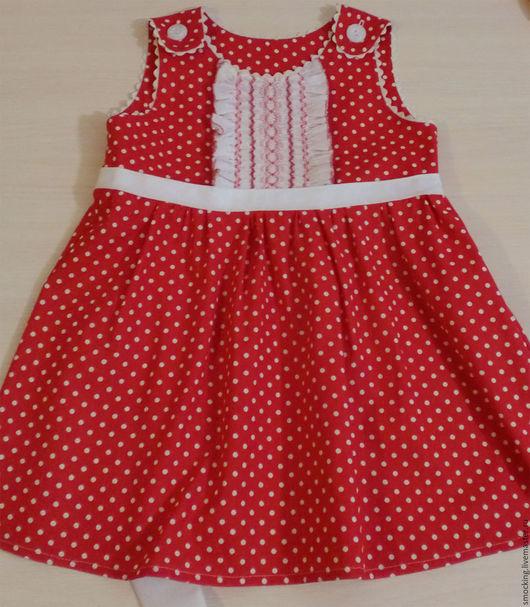 Одежда для девочек, ручной работы. Ярмарка Мастеров - ручная работа. Купить платье для девочки, smocking, на 4-5 лет. Handmade.