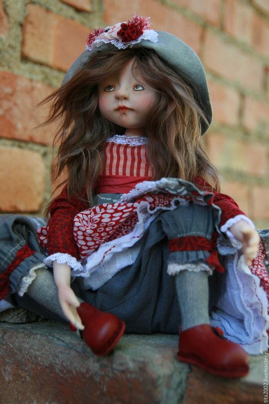 Коллекционные куклы ручной работы. Ярмарка Мастеров - ручная работа. Купить Александра. Handmade. Бордовый, Будуарная кукла