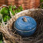 Для дома и интерьера ручной работы. Ярмарка Мастеров - ручная работа Голубое яблочко-шкатулка. Handmade.