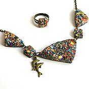 Necklace handmade. Livemaster - original item Necklace made of polymer clay