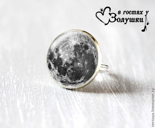 """Кольца ручной работы. Ярмарка Мастеров - ручная работа. Купить Кольцо """"Полная Луна"""". Handmade. Серый, круглое кольцо"""