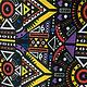 """Шитье ручной работы. Заказать Канвас """"Африканские мотивы"""". Мотильда. Ярмарка Мастеров. Плотная ткань, шитье, ткань для творчества"""