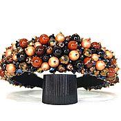 Украшения handmade. Livemaster - original item A rim made of beads and stones (Carnelian, Agate, aventurine, pearls, jasper). Handmade.