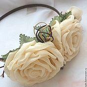 Украшения handmade. Livemaster - original item Rim with roses handcrafted