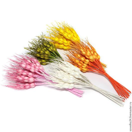Материалы для флористики ручной работы. Ярмарка Мастеров - ручная работа. Купить Колоски искусственные маленькие SA115-271. Handmade. Разноцветный