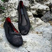 Обувь ручной работы handmade. Livemaster - original item Ballet shoes made of genuine leather and alligator skin. Handmade.