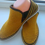 Обувь ручной работы. Ярмарка Мастеров - ручная работа Слиперы Листопад. Handmade.