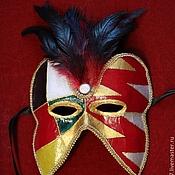 Подарки к праздникам ручной работы. Ярмарка Мастеров - ручная работа Венецианская карнавальная маска - Арлекин (разновидность). Handmade.