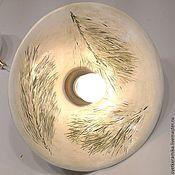 Для дома и интерьера ручной работы. Ярмарка Мастеров - ручная работа Керамический светильник. «Отпечаток зимы». Handmade.