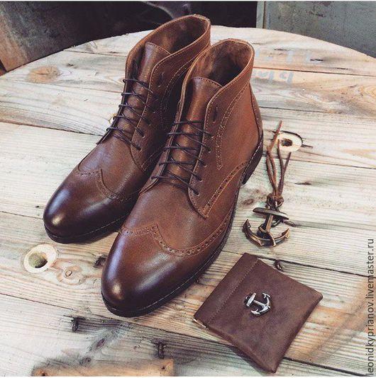 Обувь ручной работы. Ярмарка Мастеров - ручная работа. Купить Модель - Boots 2.0. Handmade. Коричневый, аксессуары