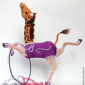 Куклы и игрушки ручной работы. Ярмарка Мастеров - ручная работа жирафа Гимнастка Полина. Handmade.