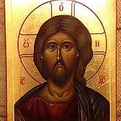 Картины и панно ручной работы. Ярмарка Мастеров - ручная работа Икона Спасителя. Handmade.