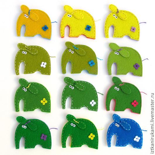 Игрушки животные, ручной работы. Ярмарка Мастеров - ручная работа. Купить БРОШКА СЛОН. Handmade. Слон, слоники, брошь, игрушка