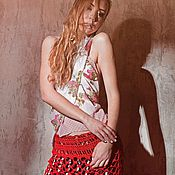 Одежда handmade. Livemaster - original item Skirt red. Handmade.