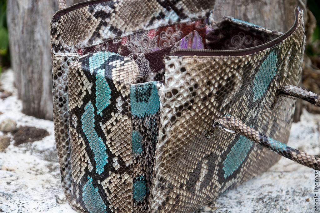 Maria · Женские сумки ручной работы. Заказать Кожаная сумка из питона  Victoria . Сумка из питона. f0e9ba6cfdf