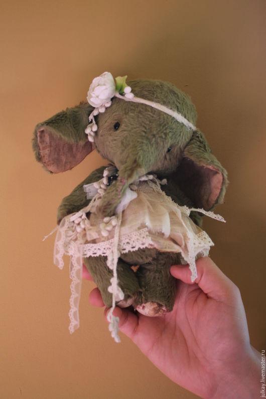 Мишки Тедди ручной работы. Ярмарка Мастеров - ручная работа. Купить Слоник. Handmade. Оливковый, авторский слоник, фурнитура