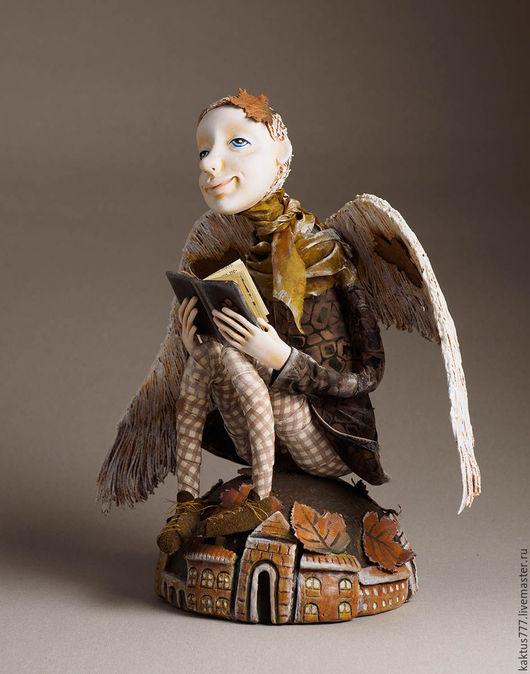 Коллекционные куклы ручной работы. Ярмарка Мастеров - ручная работа. Купить Мечтатель. Handmade. Ангел, осень, подарок, авторская работа