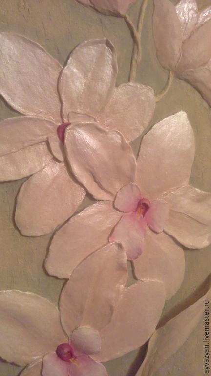 Картины цветов ручной работы. Ярмарка Мастеров - ручная работа. Купить орхидея. Handmade. Розовый, объемная картина, цветы в интерьере