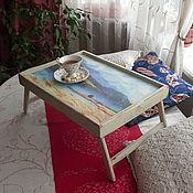 """Для дома и интерьера ручной работы. Ярмарка Мастеров - ручная работа Столик-поднос """"Завтрак в постель2"""". Handmade."""