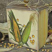 """Для дома и интерьера ручной работы. Ярмарка Мастеров - ручная работа Короб для хранения """"Кукурузки"""". Handmade."""