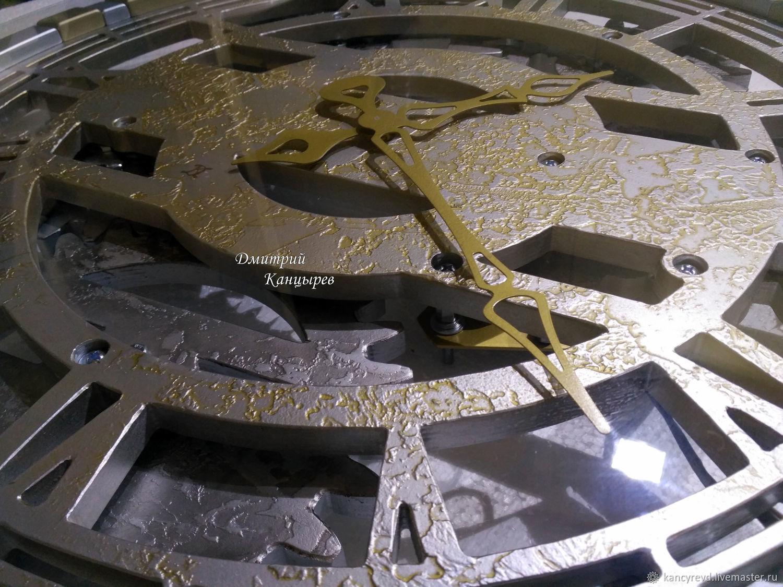 Large wall clock with rotating gears, Watch, Ivanovo,  Фото №1