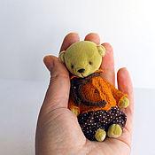 Куклы и игрушки ручной работы. Ярмарка Мастеров - ручная работа Мини мишка (9 см). Handmade.