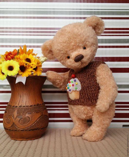 """Мишки Тедди ручной работы. Ярмарка Мастеров - ручная работа. Купить Мишка-тедди """"Кексик"""". Handmade. Бежевый, teddytoy"""