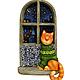 """Город ручной работы. Ярмарка Мастеров - ручная работа. Купить Пано """" Старое окно """". Кот и мышь. Дерево. Ручная роспись. Handmade."""