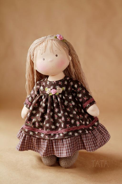 Вальдорфская игрушка ручной работы. Ярмарка Мастеров - ручная работа. Купить Игровая куколка. Handmade. Вальдорфская кукла, детская кукла