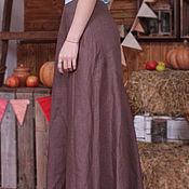 Одежда ручной работы. Ярмарка Мастеров - ручная работа Юбка длинная из льна Арт.016а,с рельефными швами. Handmade.